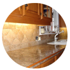 Granite backsplash grout restoration and cleaning by Grout Lines